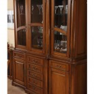 Bufet-vitrina 3 usi lemn masiv Rafael