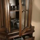 Bufet vitrina colt lemn masiv Royal