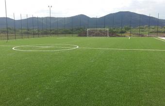 Montaj gazon sintetic pentru terenuri sport si multisport