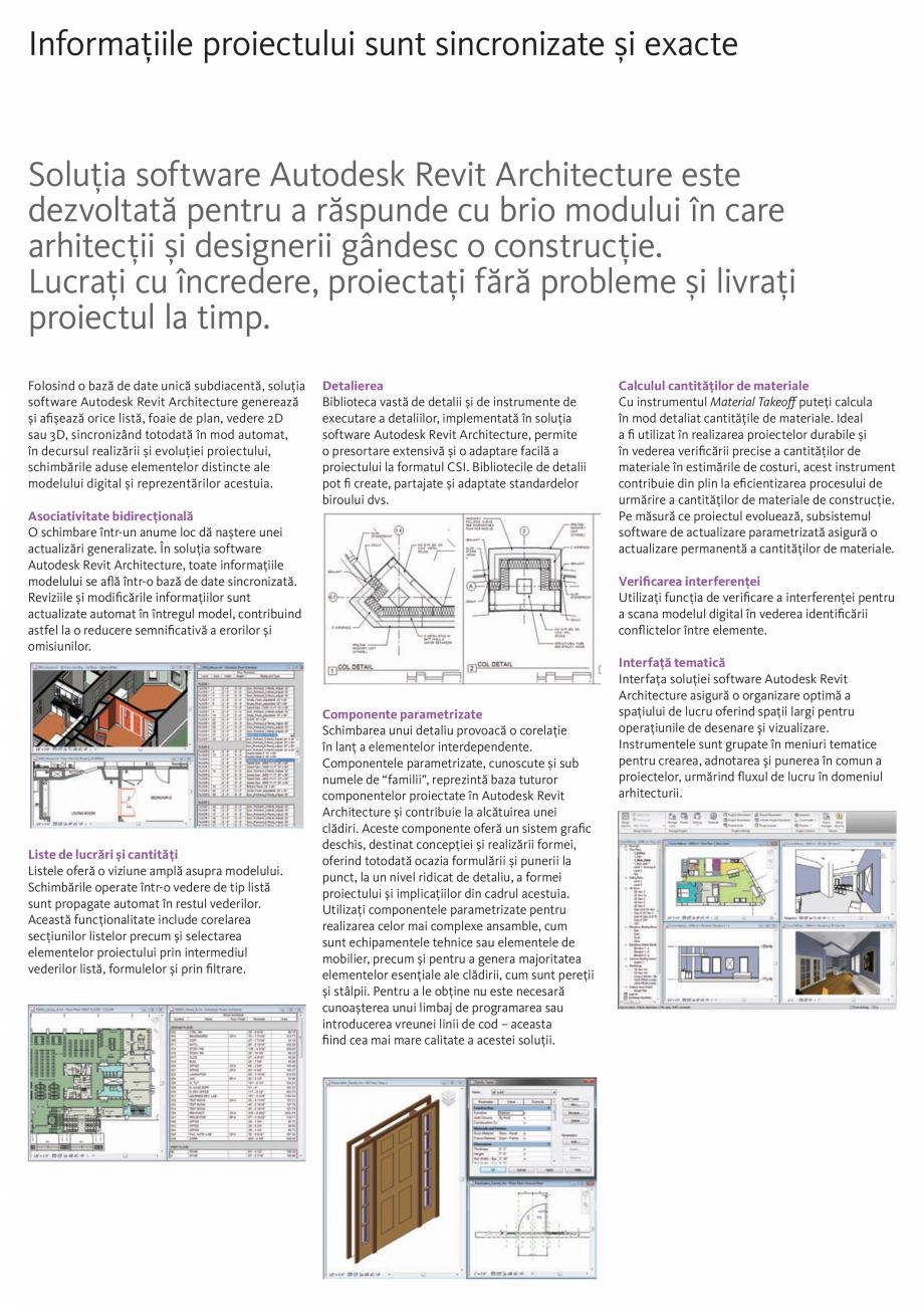 Pagina 3 - Proiectare fara compromisuri AUTODESK Revit 2018 Fisa tehnica Romana ne astfel de...