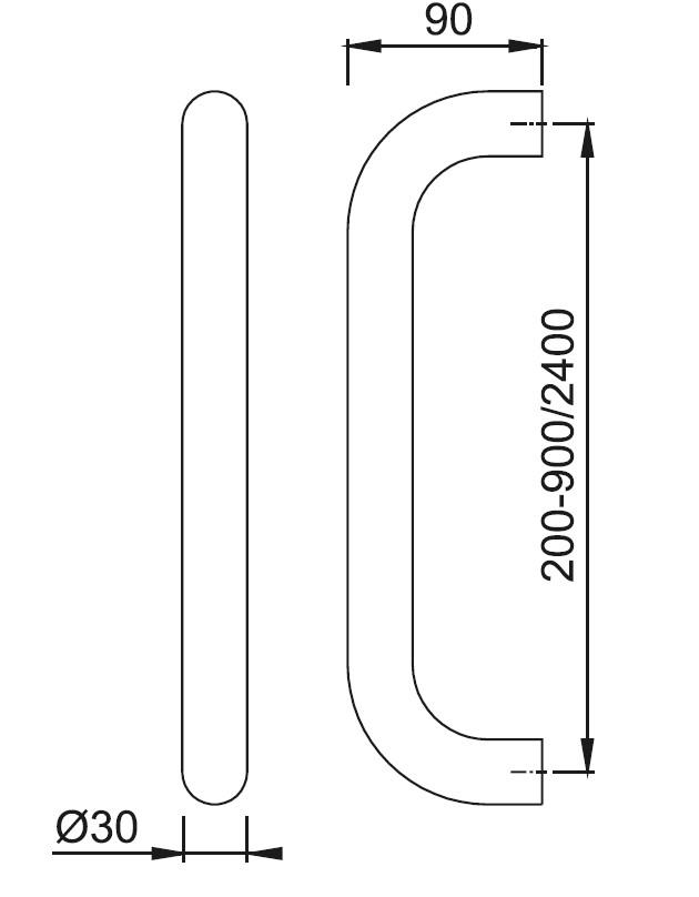 Schiță dimensiuni Maner de tragere E5010