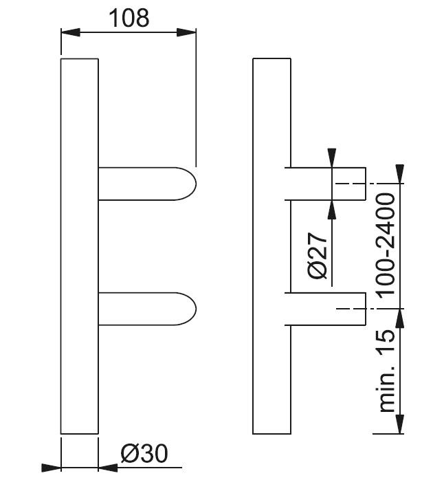 Schiță dimensiuni Maner de tragere E5012