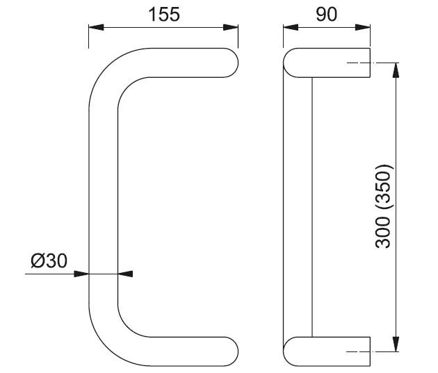 Schiță dimensiuni Maner de tragere E5110