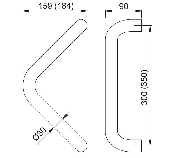 Schiță dimensiuni Maner de tragere E5210