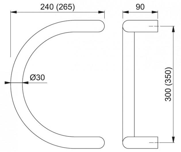 Schiță dimensiuni Maner de tragere E5310