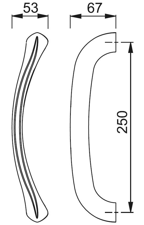 Schiță dimensiuni Maner de tragere Monte Carlo M550LG