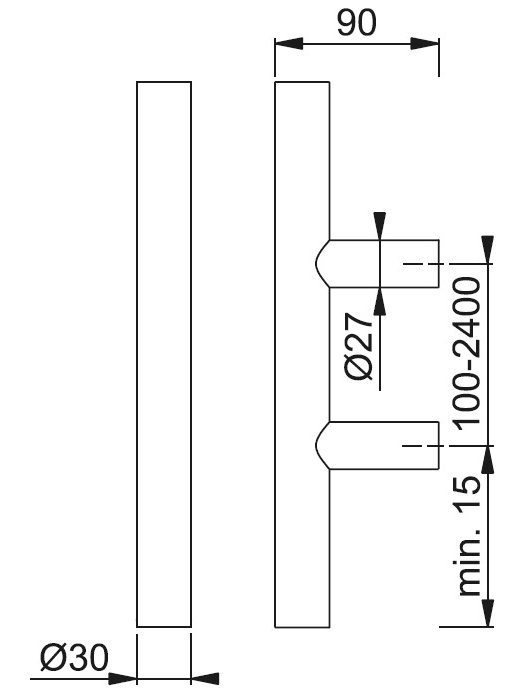Schiță dimensiuni Maner de tragere E5011