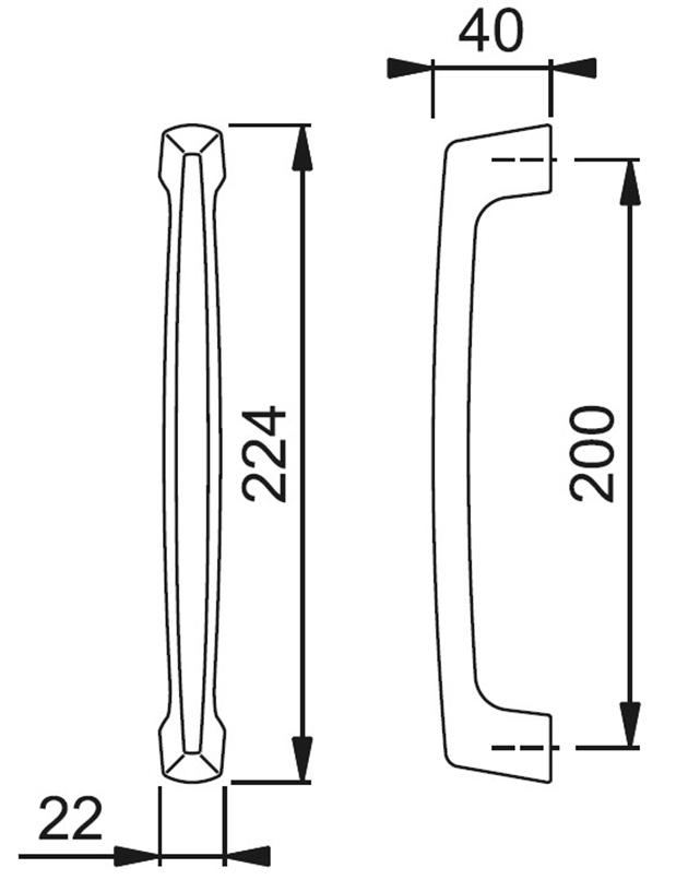 Schiță dimensiuni Maner de tragere M555