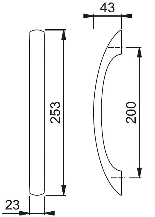 Schiță dimensiuni Maner de tragere M588