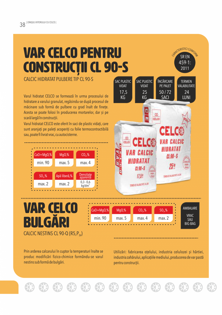 Pagina 38 - Pliant CELCO 2019 CELCO ZID DD-M5, ZID DD-M10 Catalog, brosura Romana