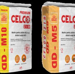 Mortare pentru zidarie BCA cu straturi subtiri CELCO