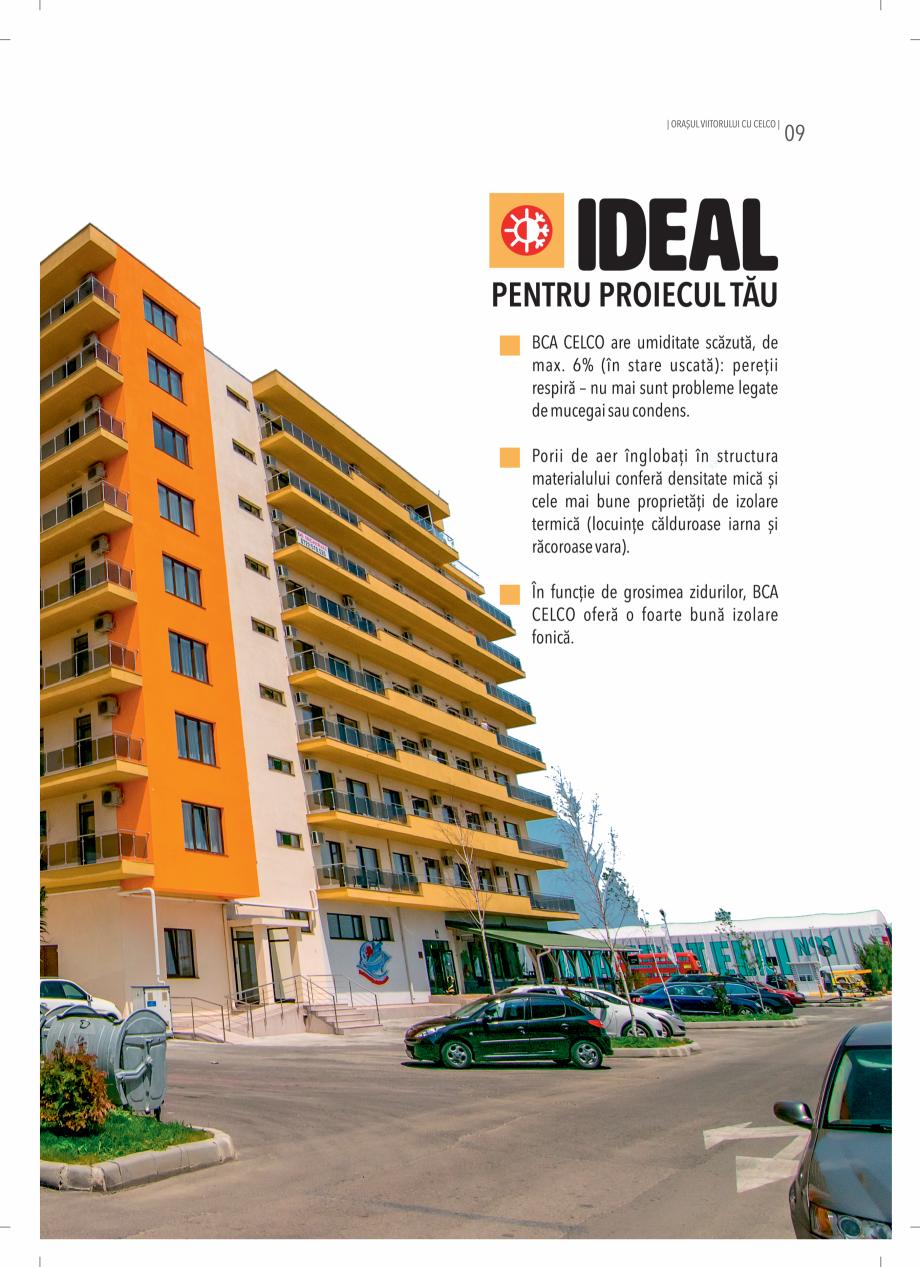 Pagina 9 - BCA - beton celular autoclavizat CELCO MEGATERM, MEGATERM PLUS, STANDARD, STRUCTOTERM,...
