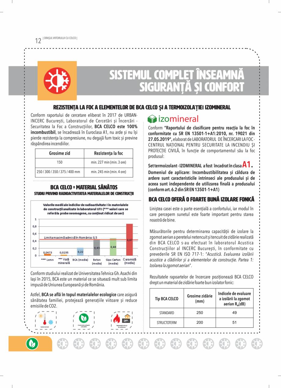 Pagina 12 - BCA - beton celular autoclavizat CELCO MEGATERM, MEGATERM PLUS, STANDARD, STRUCTOTERM,...
