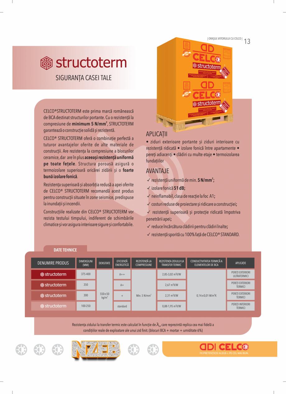 Pagina 13 - BCA - beton celular autoclavizat CELCO MEGATERM, MEGATERM PLUS, STANDARD, STRUCTOTERM,...