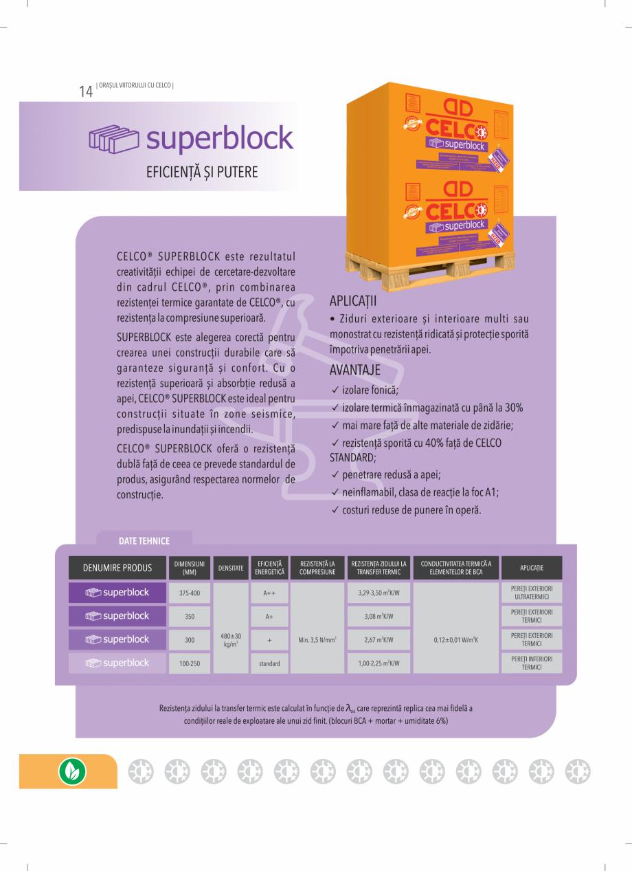 Pagina 14 - BCA - beton celular autoclavizat CELCO MEGATERM, MEGATERM PLUS, STANDARD, STRUCTOTERM,...