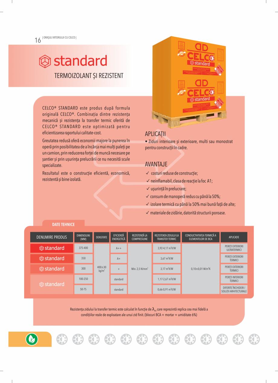 Pagina 16 - BCA - beton celular autoclavizat CELCO MEGATERM, MEGATERM PLUS, STANDARD, STRUCTOTERM,...