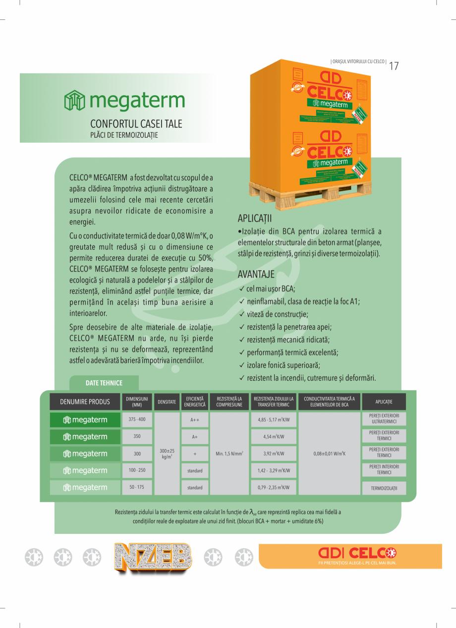 Pagina 17 - BCA - beton celular autoclavizat CELCO MEGATERM, MEGATERM PLUS, STANDARD, STRUCTOTERM,...