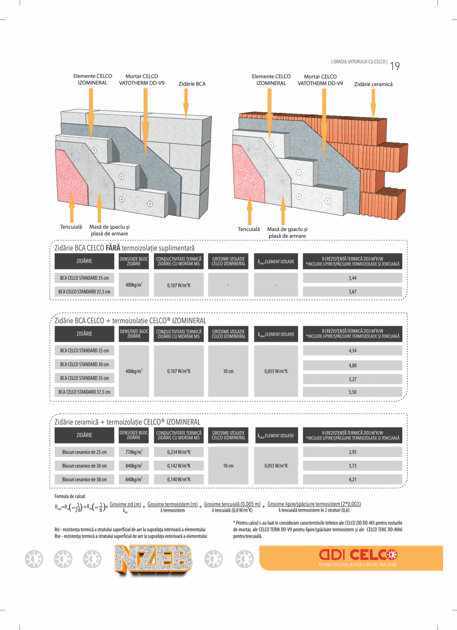 Pagina 19 - BCA - beton celular autoclavizat CELCO MEGATERM, MEGATERM PLUS, STANDARD, STRUCTOTERM,...