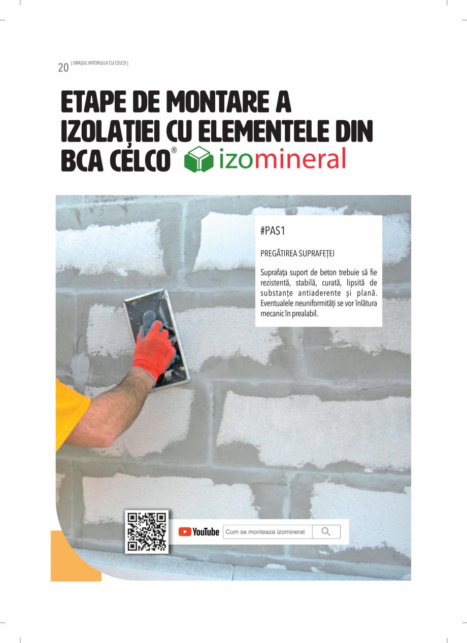 Pagina 20 - BCA - beton celular autoclavizat CELCO MEGATERM, MEGATERM PLUS, STANDARD, STRUCTOTERM,...
