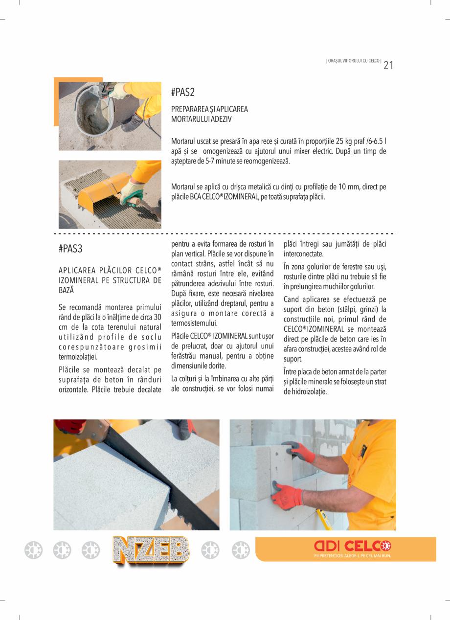 Pagina 21 - BCA - beton celular autoclavizat CELCO MEGATERM, MEGATERM PLUS, STANDARD, STRUCTOTERM,...