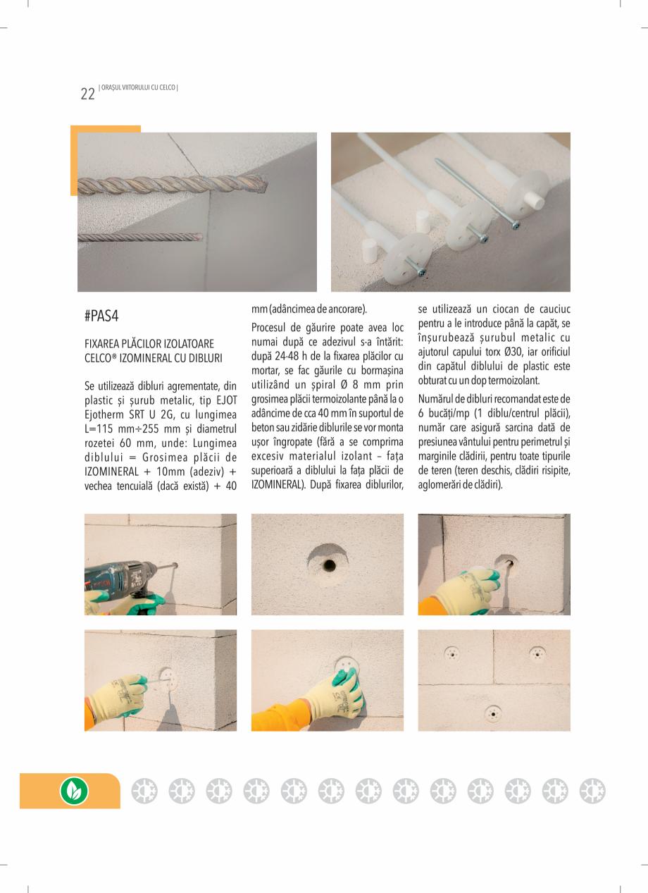 Pagina 22 - BCA - beton celular autoclavizat CELCO MEGATERM, MEGATERM PLUS, STANDARD, STRUCTOTERM,...
