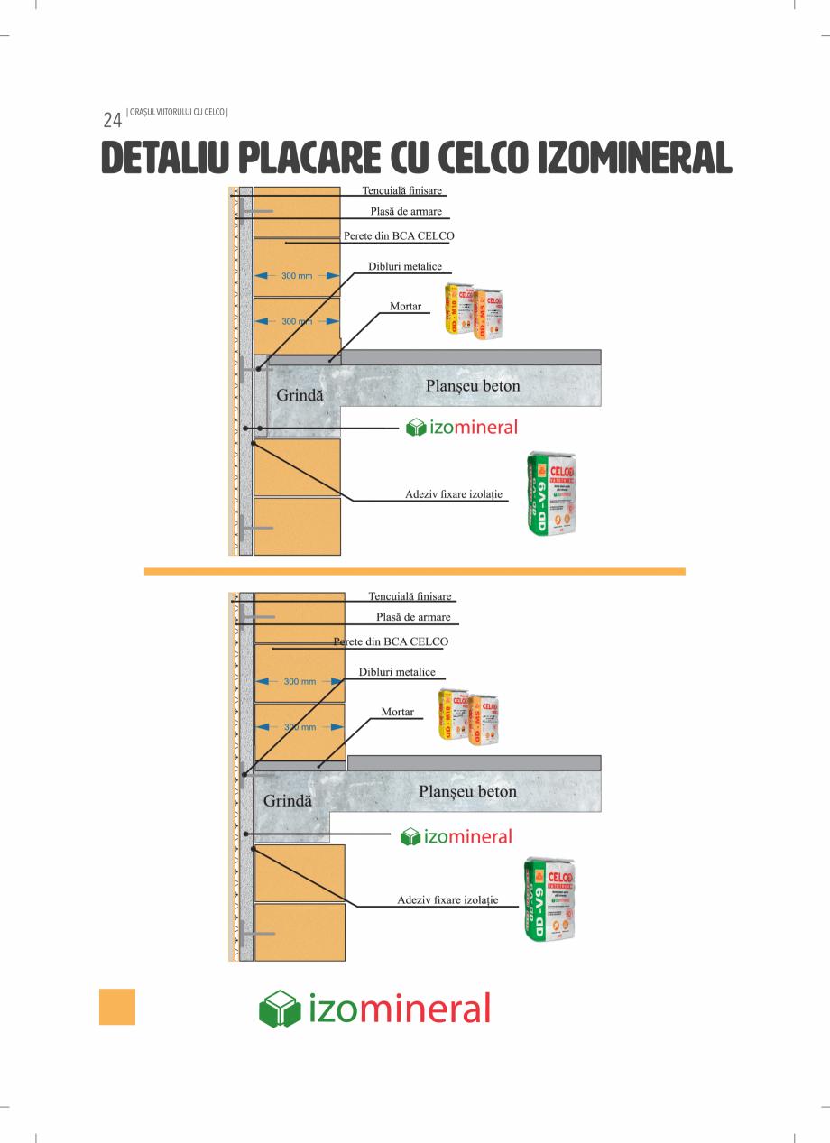 Pagina 24 - BCA - beton celular autoclavizat CELCO MEGATERM, MEGATERM PLUS, STANDARD, STRUCTOTERM,...