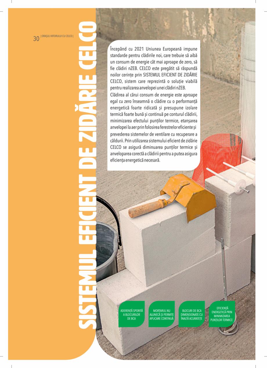 Pagina 30 - BCA - beton celular autoclavizat CELCO MEGATERM, MEGATERM PLUS, STANDARD, STRUCTOTERM,...