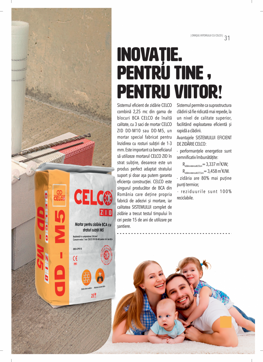 Pagina 31 - BCA - beton celular autoclavizat CELCO MEGATERM, MEGATERM PLUS, STANDARD, STRUCTOTERM,...