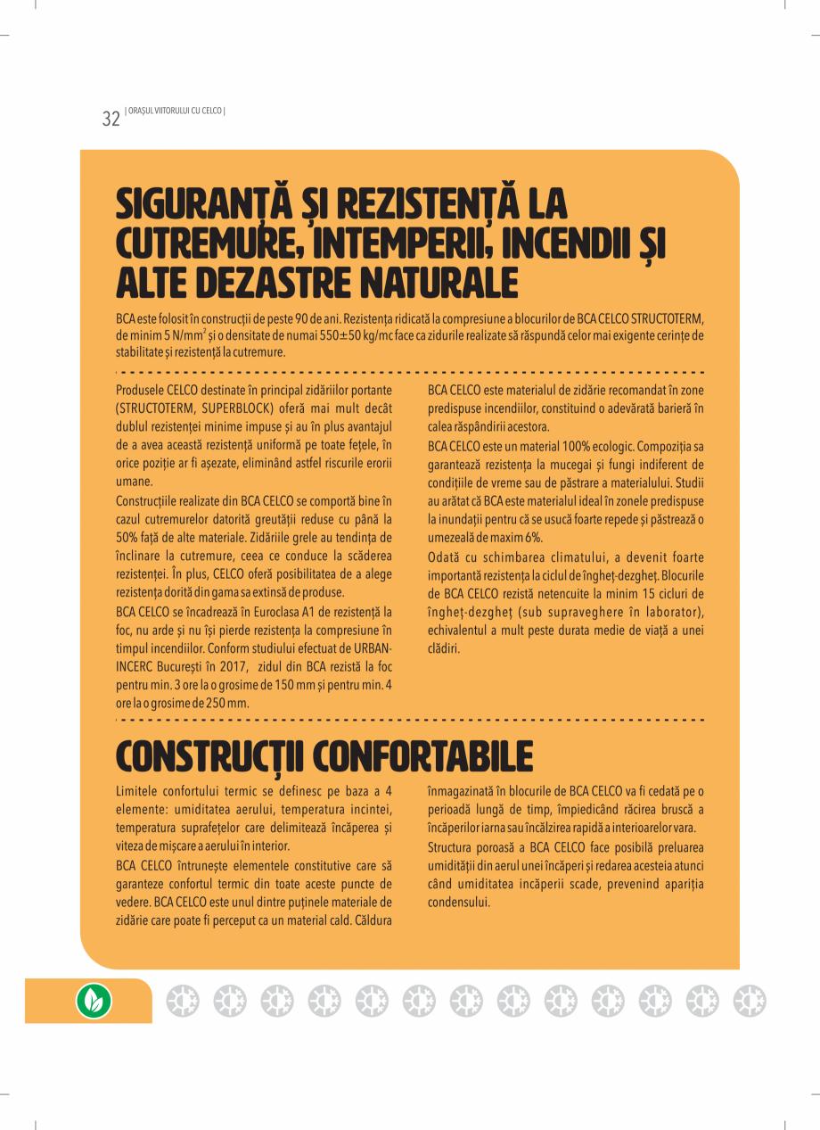 Pagina 32 - BCA - beton celular autoclavizat CELCO MEGATERM, MEGATERM PLUS, STANDARD, STRUCTOTERM,...