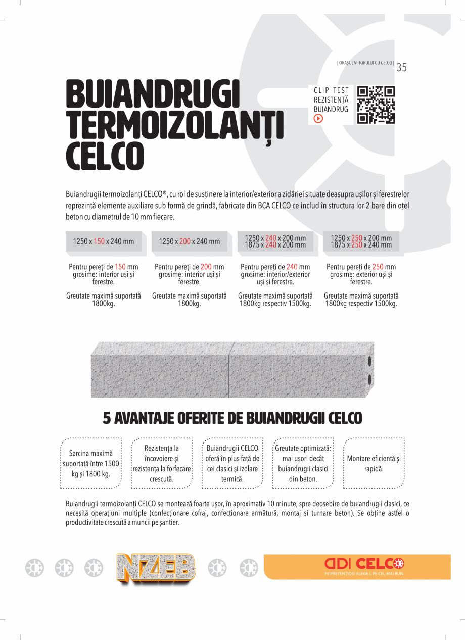 Pagina 35 - BCA - beton celular autoclavizat CELCO MEGATERM, MEGATERM PLUS, STANDARD, STRUCTOTERM,...