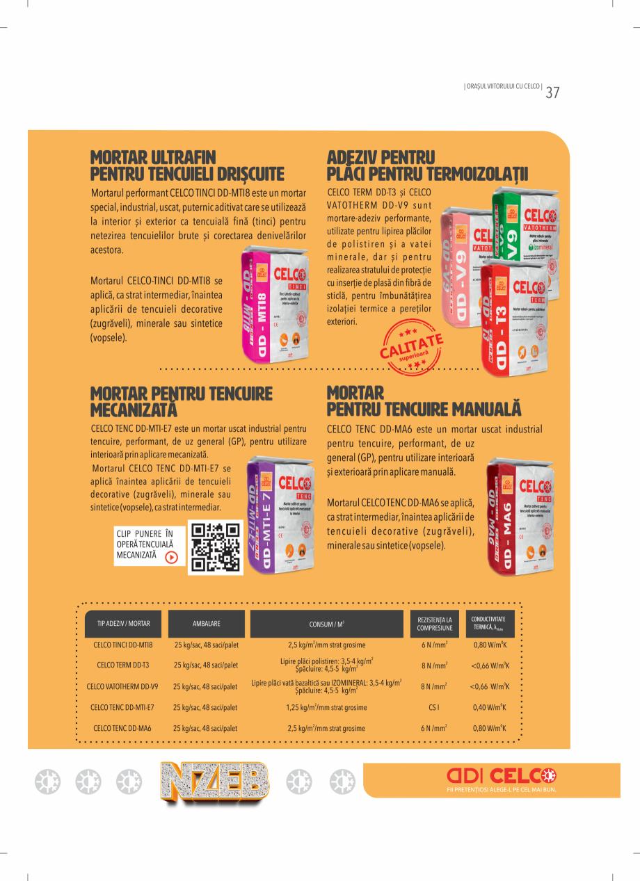Pagina 37 - BCA - beton celular autoclavizat CELCO MEGATERM, MEGATERM PLUS, STANDARD, STRUCTOTERM,...