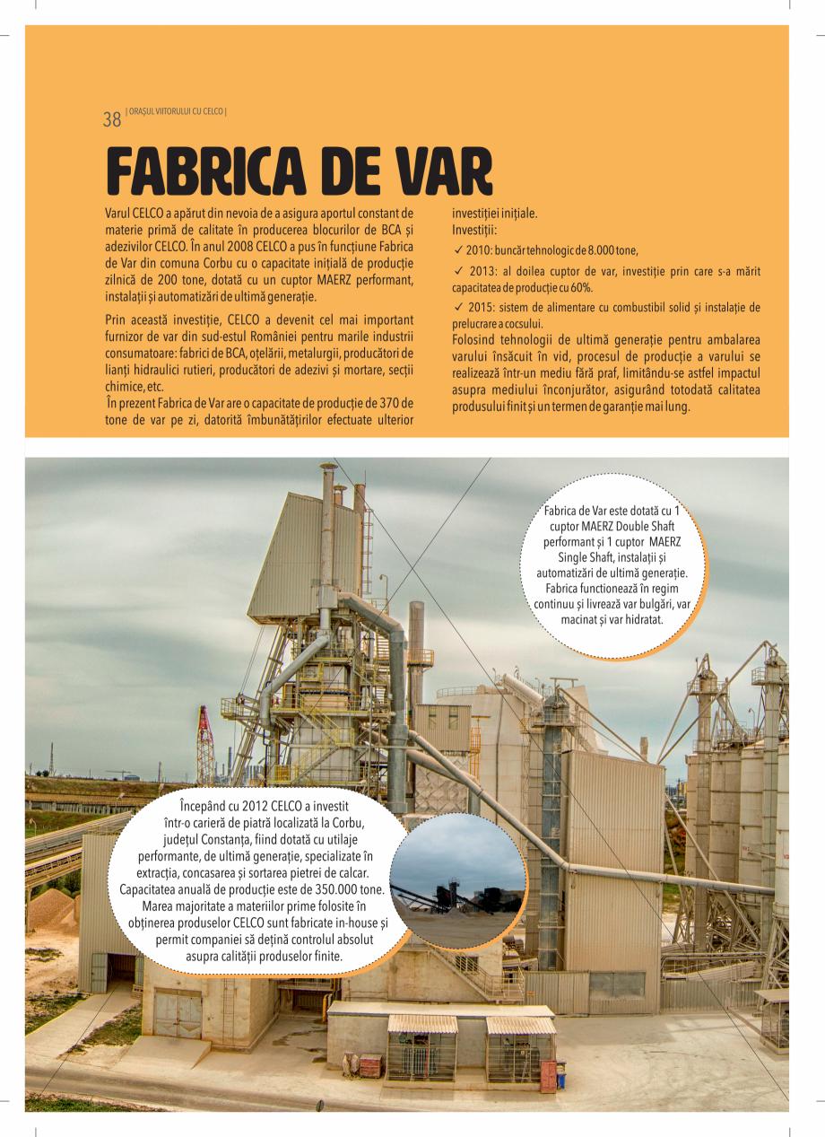 Pagina 38 - BCA - beton celular autoclavizat CELCO MEGATERM, MEGATERM PLUS, STANDARD, STRUCTOTERM,...