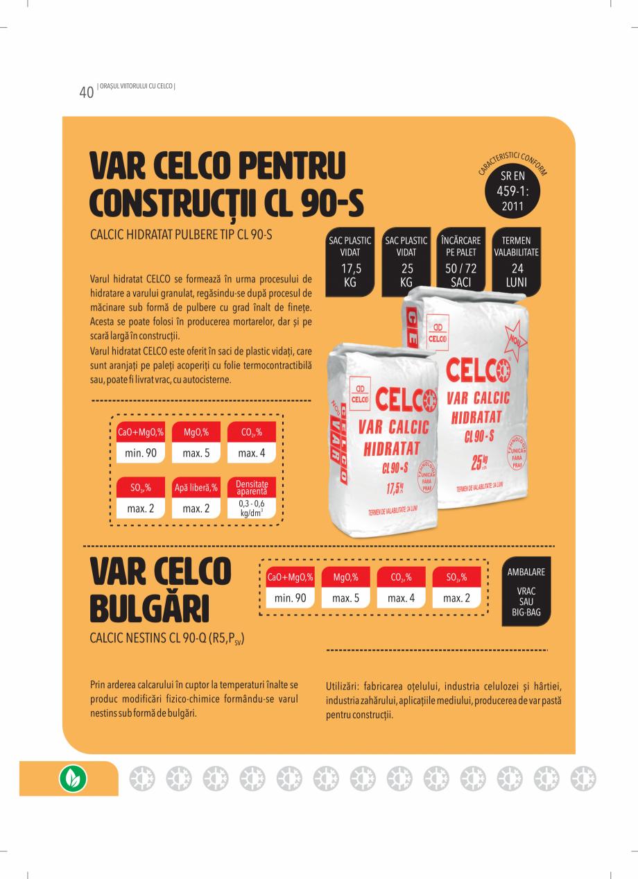 Pagina 40 - BCA - beton celular autoclavizat CELCO MEGATERM, MEGATERM PLUS, STANDARD, STRUCTOTERM,...