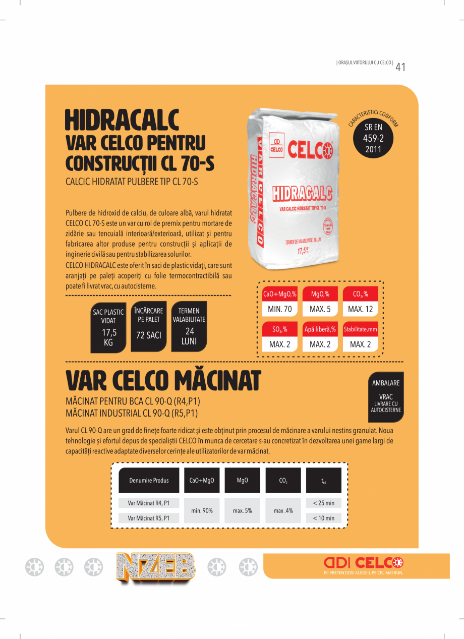 Pagina 41 - BCA - beton celular autoclavizat CELCO MEGATERM, MEGATERM PLUS, STANDARD, STRUCTOTERM,...