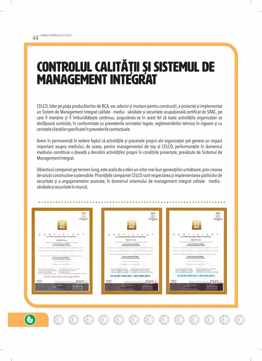 Pagina 44 - BCA - beton celular autoclavizat CELCO MEGATERM, MEGATERM PLUS, STANDARD, STRUCTOTERM,...