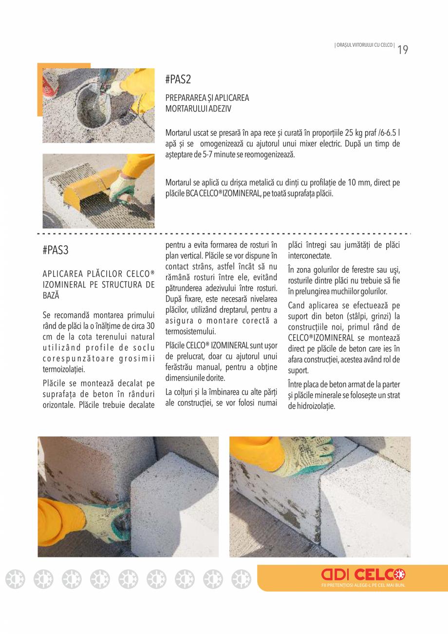 Pagina 19 - Pliant CELCO 2019 CELCO PLAC interior DD-C1, PLAC interior-exterior DD-C12 Catalog,...
