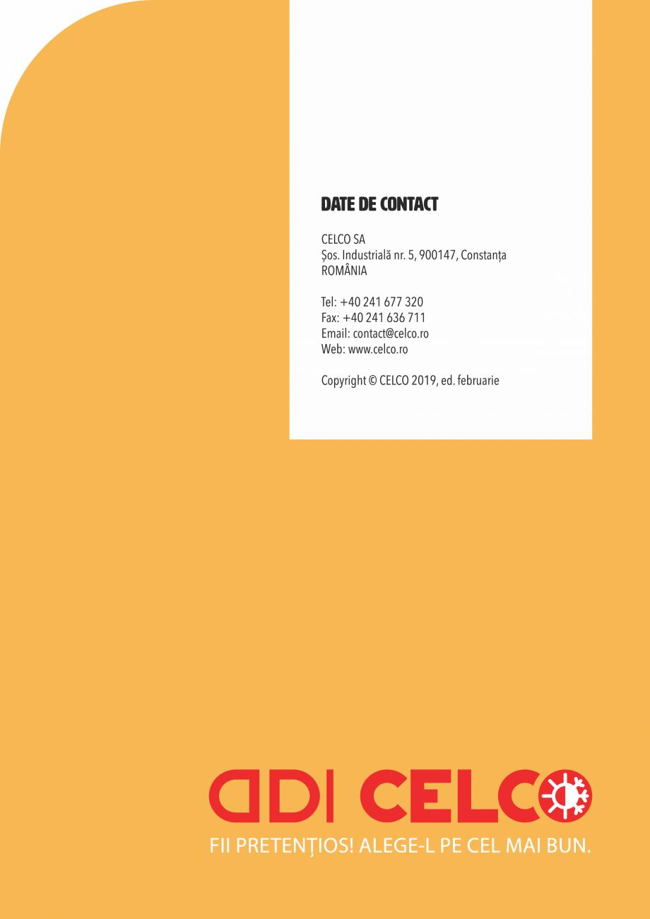 Pagina 44 - Pliant CELCO 2019 CELCO PLAC interior DD-C1, PLAC interior-exterior DD-C12 Catalog,...