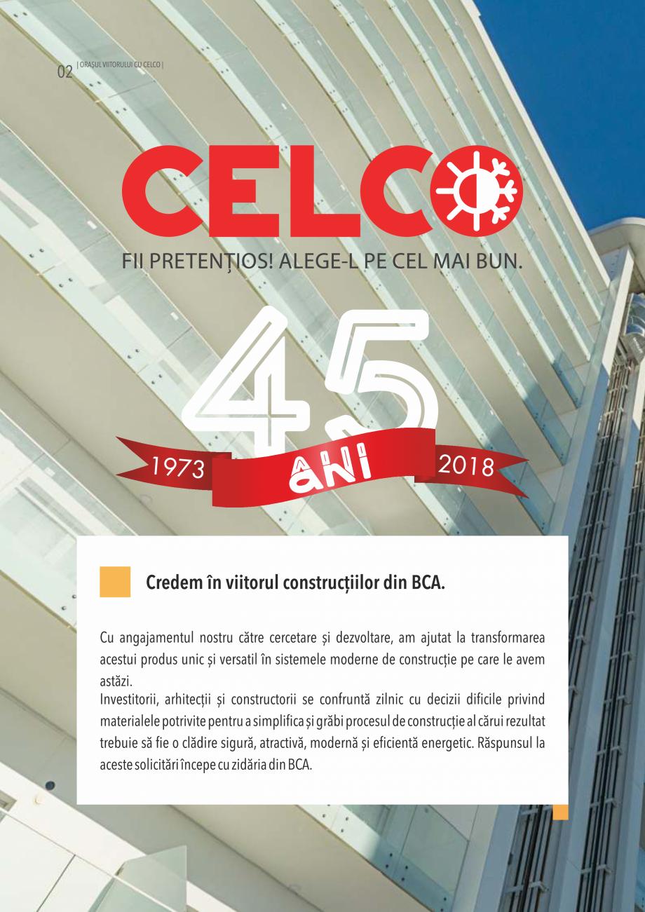 Pagina 2 - Pliant CELCO 2019 CELCO Catalog, brosura Romana edia)  izomineral ...