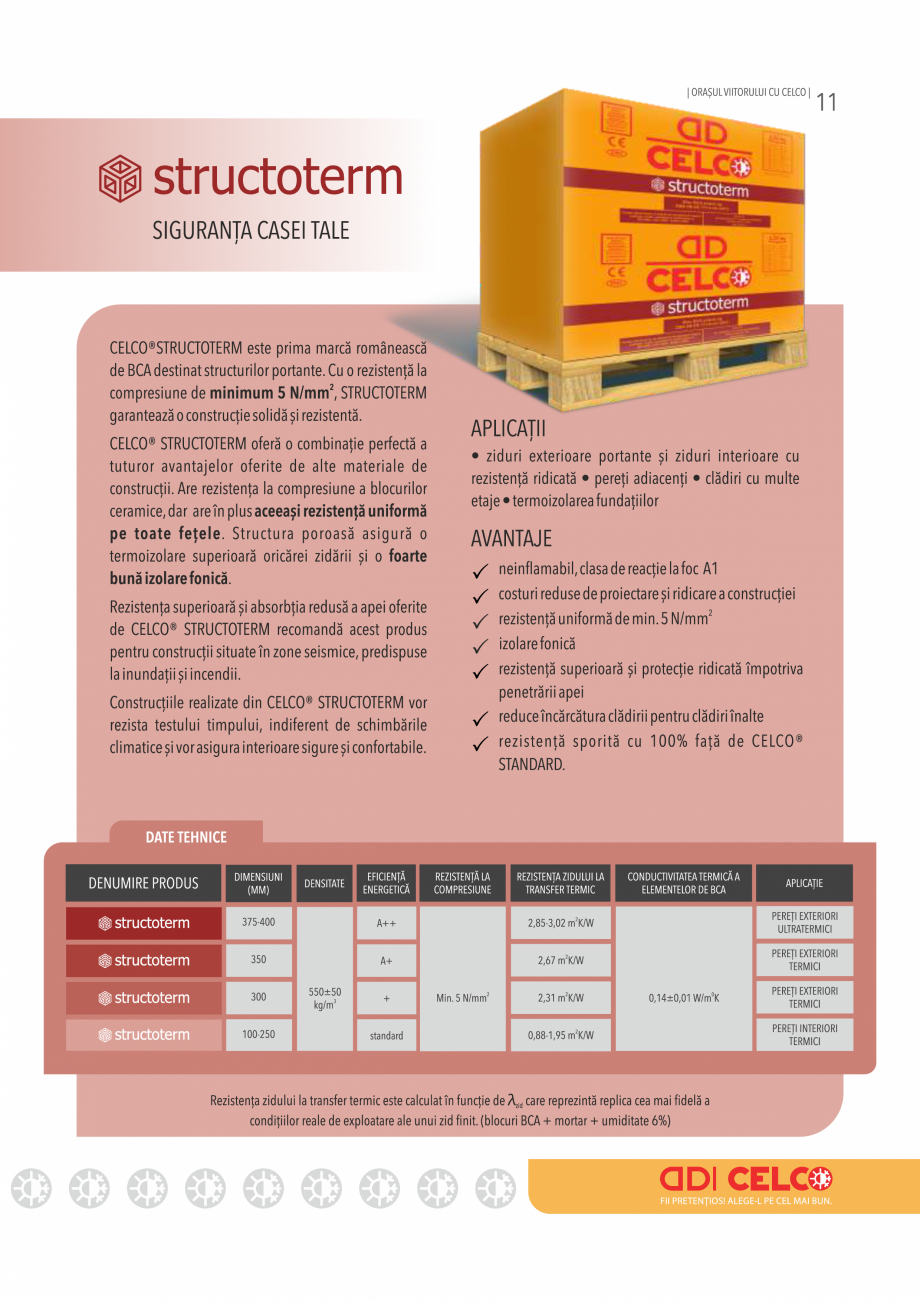 Pagina 11 - Pliant CELCO 2019 CELCO Catalog, brosura Romana