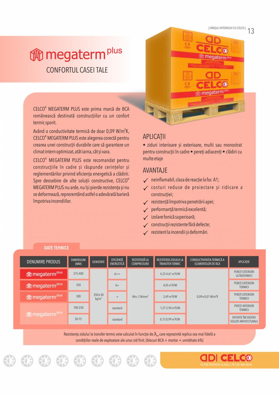 Pagina 13 - Pliant CELCO 2019 CELCO Catalog, brosura Romana