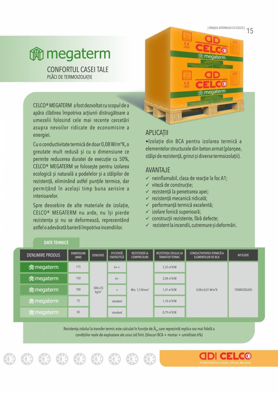 Pagina 15 - Pliant CELCO 2019 CELCO Catalog, brosura Romana