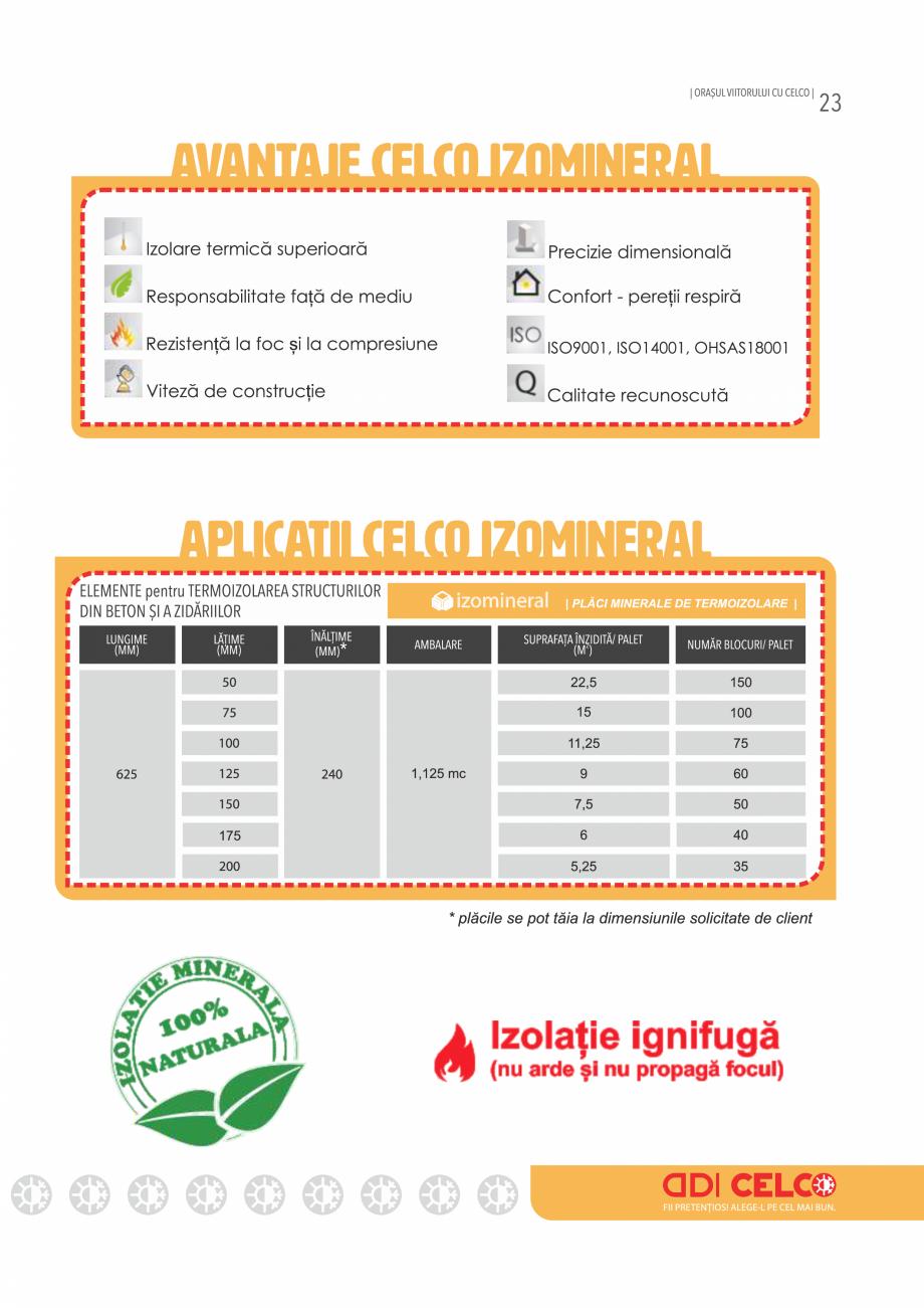 Pagina 23 - Pliant CELCO 2019 CELCO Catalog, brosura Romana