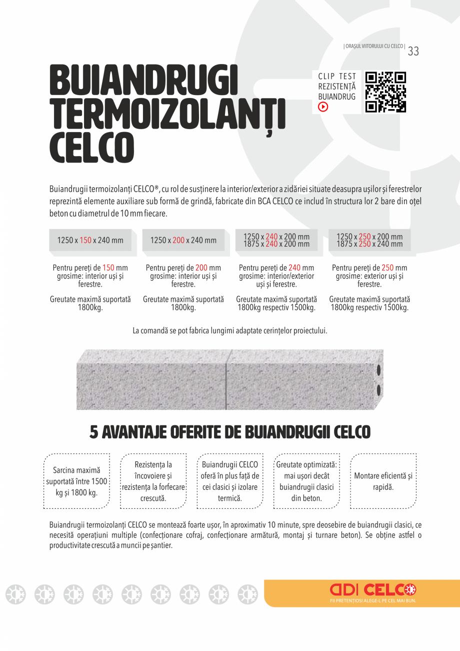 Pagina 33 - Pliant CELCO 2019 CELCO Catalog, brosura Romana