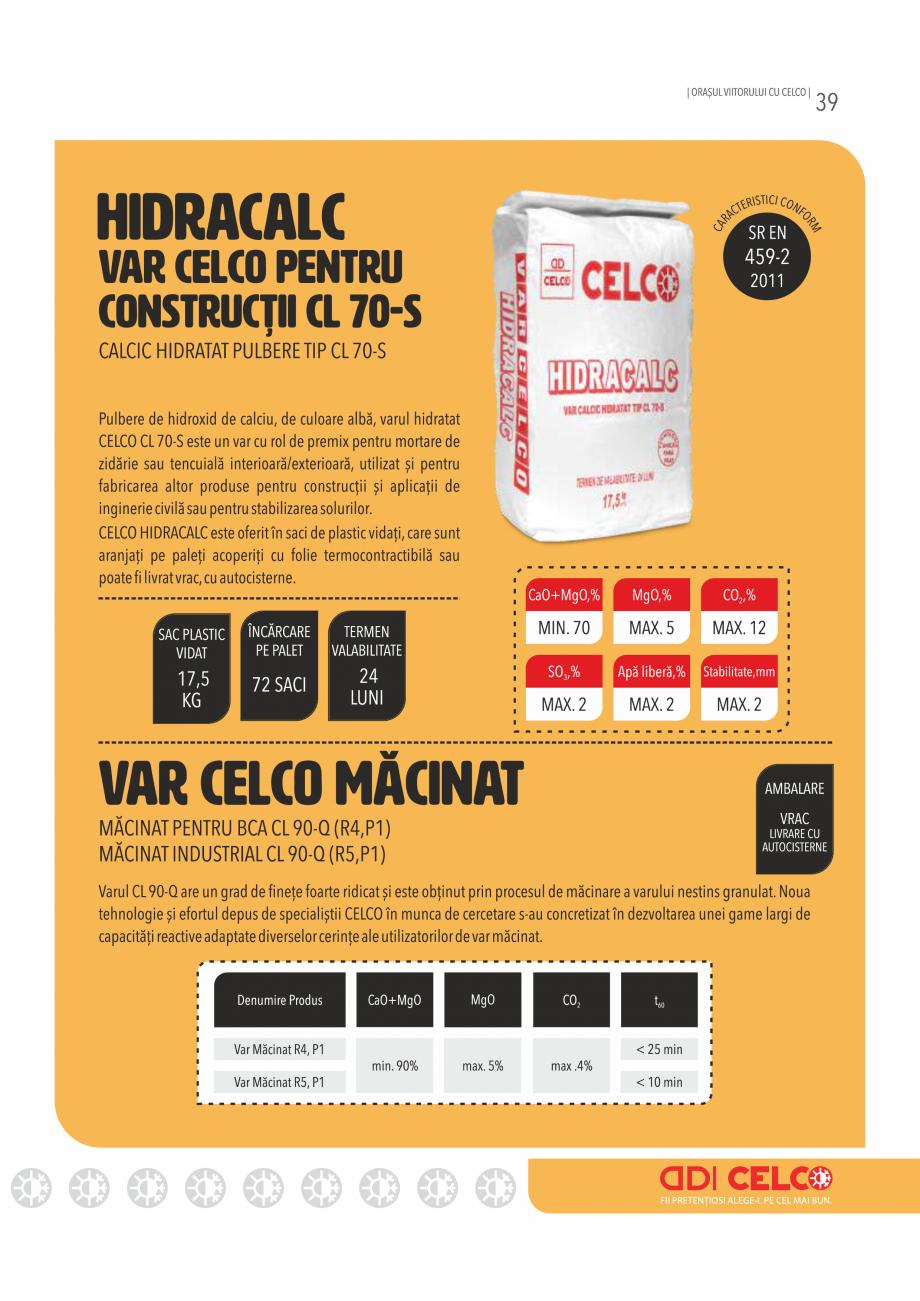 Pagina 39 - Pliant CELCO 2019 CELCO Catalog, brosura Romana