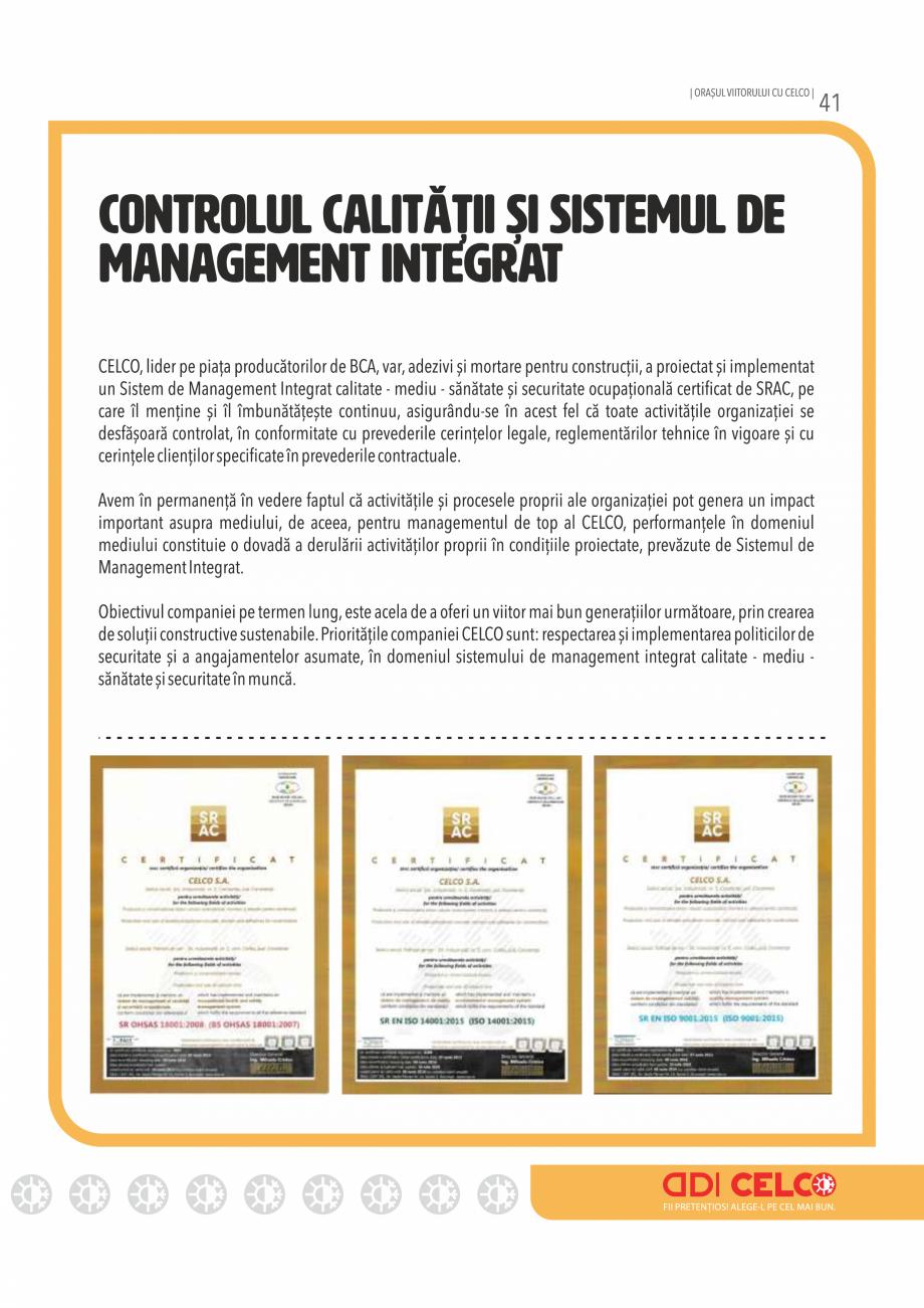 Pagina 41 - Pliant CELCO 2019 CELCO Catalog, brosura Romana
