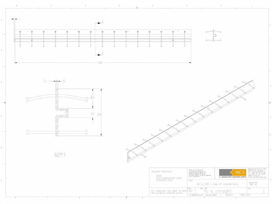 Pagina 1 - CAD-DWG Profile pentru rosturi 200x5  HCJ Detaliu de produs HC-Omega Sinus Slide