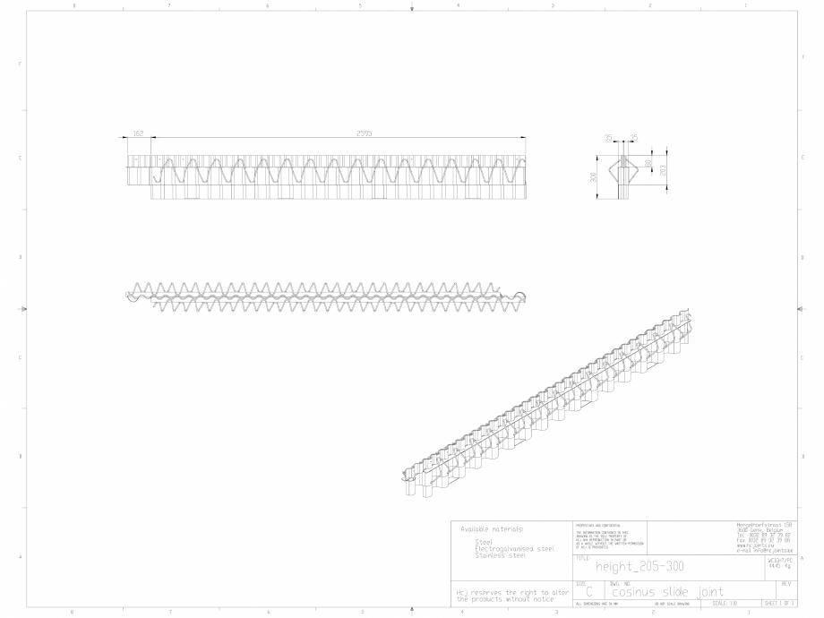 Pagina 1 - CAD-DWG Profile pentru rosturi 205-300 HCJ Detaliu de produs Cosinus Slide