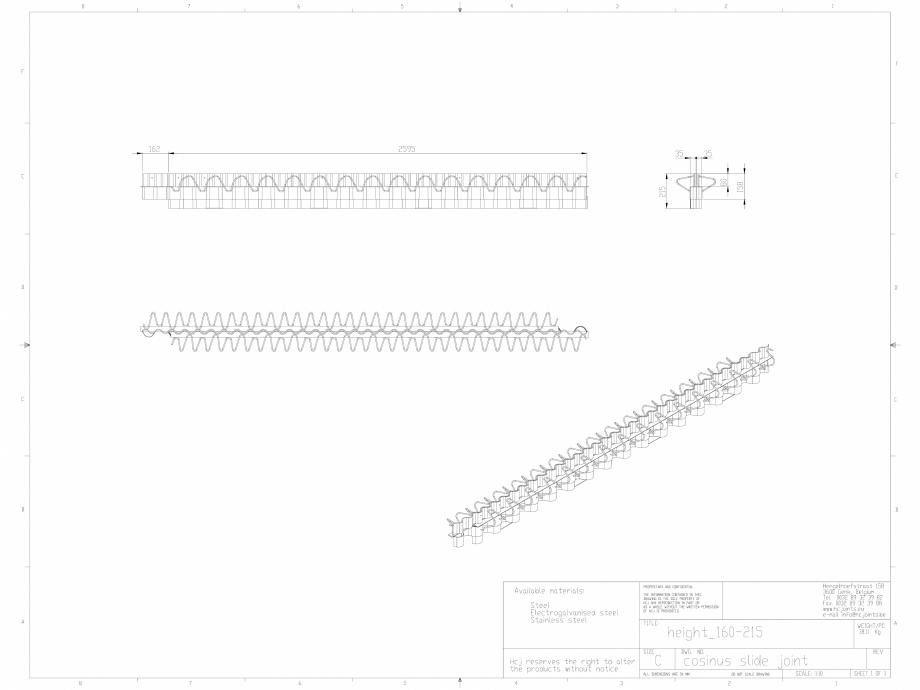 Pagina 1 - CAD-DWG Profile pentru rosturi 160-215 HCJ Detaliu de produs Cosinus Slide