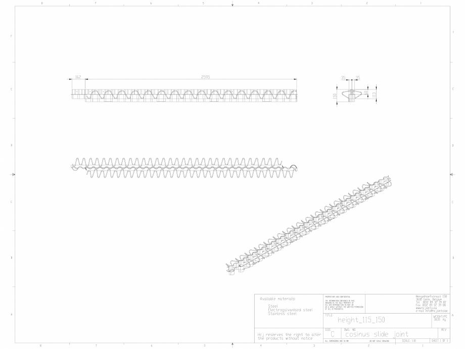 Pagina 1 - CAD-DWG Profile pentru rosturi 115-160 HCJ Detaliu de produs Cosinus Slide