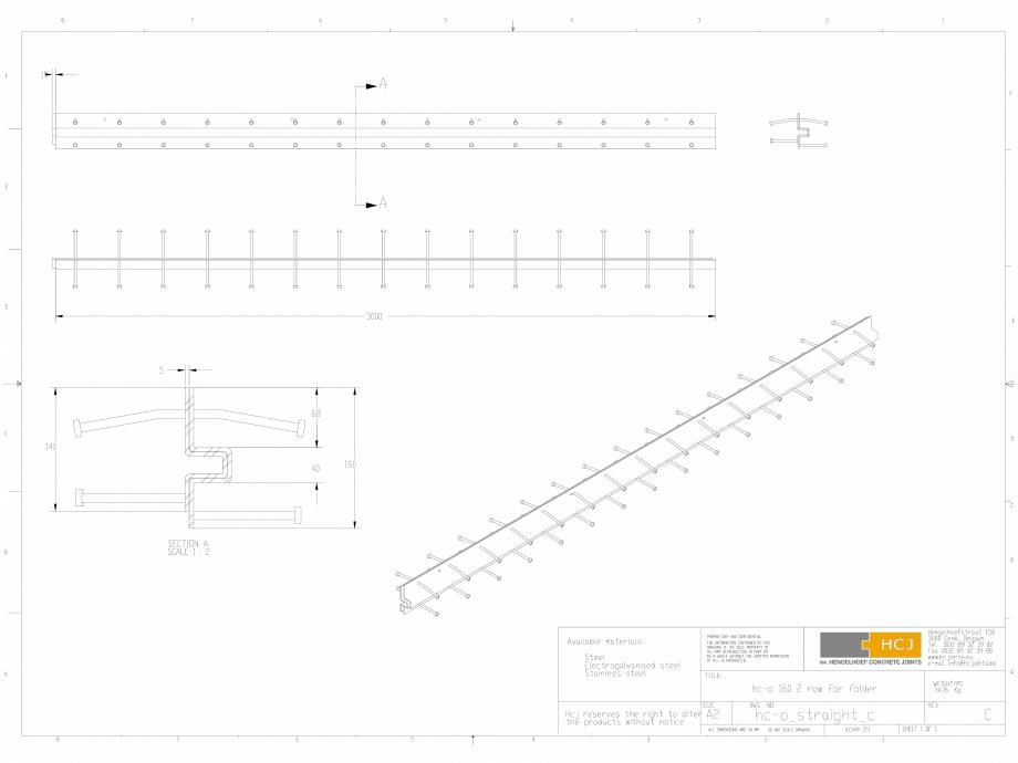 Pagina 1 - CAD-DWG Profile pentru rosturi 160x5  HCJ Detaliu de produs HC-Omega